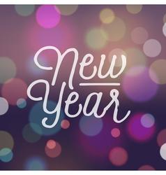 Slogan bokeh xmas new year vector