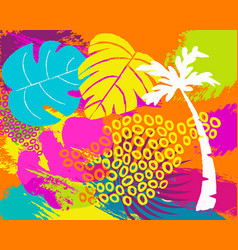 Tropical summer nature abstract background art vector