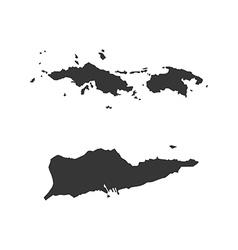 Virgin Islands of the United States map silhouette vector image