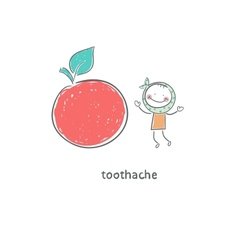 Toothache vector image