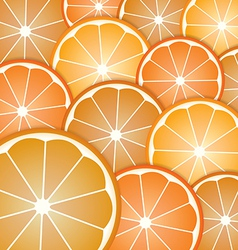 Abstract with pattern oranges slices vector