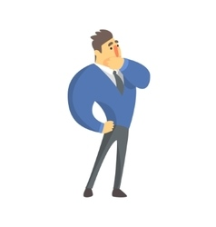 Doubtful businessman top manager in a suit office vector