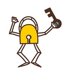 Lock and key vector