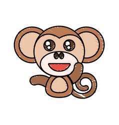 draw monkey animal comic vector image