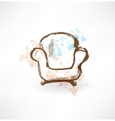 Chair grunge icon vector