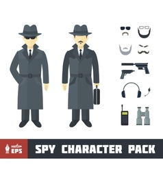 Spy character pack vector