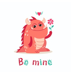Valentine monster vector