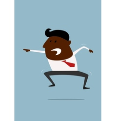 Excited or angry businessman shouting vector