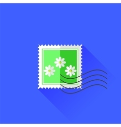 Flower stamp icon vector