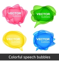 Abstract shape design colorful spech bubles set vector