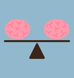 Thinking brains on weight scale vector