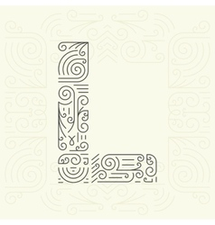 Letter l golden monogram design element vector