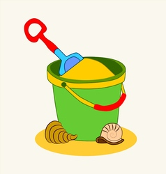 0815 13 a bucket of sand v vector