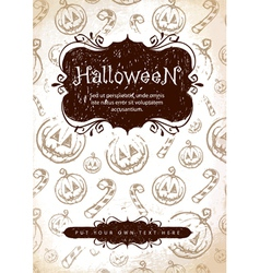 handdrawn halloween vector image