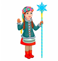 Ukrainian girl vector