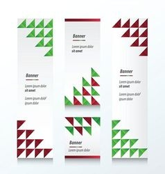 Triangle pattern christmas styles color vector
