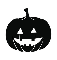 Pumpkin with a smile icon vector