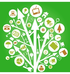 arrow nature tree vector image