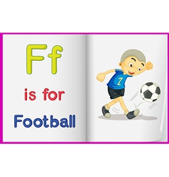 A picture of football in a book vector image