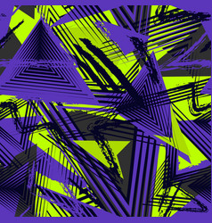 abstract seamless geometric pattern sport style vector image