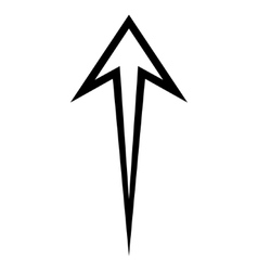 Arrow up outline icon vector