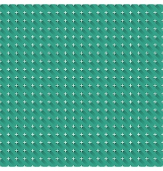 Blue background with seamless white crosses with vector