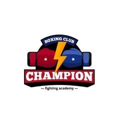Boxing Club Logo Design Flat Icon vector image