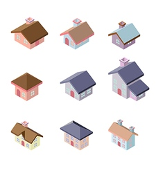 building 3d isometric vector image vector image