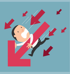 concept of businessman failure vector image vector image
