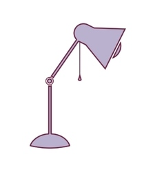 Contour lamp of desktop adjustable in light purple vector