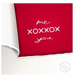 Creative love letter vector