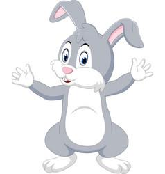 cute cartoon rabbit vector image