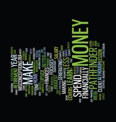 Financial vertigo text background word cloud vector