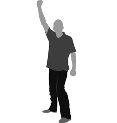 fist raised vector image vector image