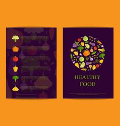 flat vegetables card brochure flyer vector image