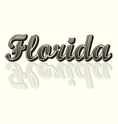 Florida text background vector