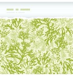 Green underwater seaweed horizontal torn seamless vector