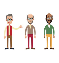 Group male grandfather image vector
