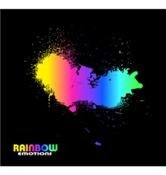grunge bright spectrum vector image