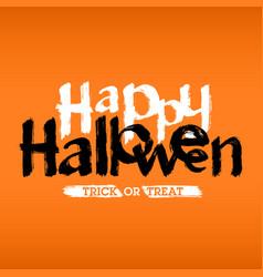 happy halloween hand drawn card or invitation vector image vector image