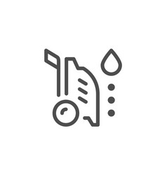 High pressure washer line icon vector