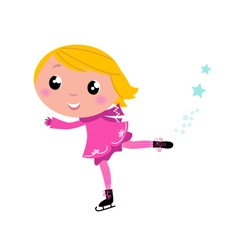ice skating girl vector image vector image
