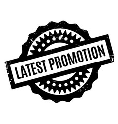 Latest promotion rubber stamp vector