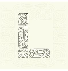 Letter L Golden Monogram Design element vector image vector image