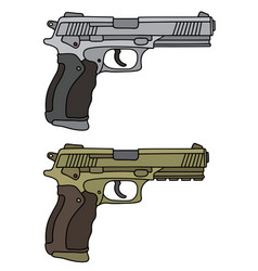 Luxus large handguns vector