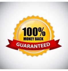 Money Back Golden Label vector image vector image