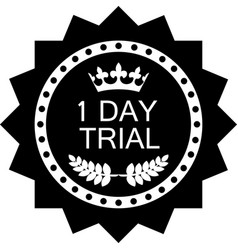 One day trial icon vector