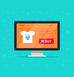 online store on computer flat vector image vector image