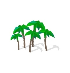 Palm Trees with Shadow vector image vector image