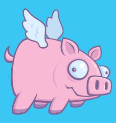 Pigs fly vector